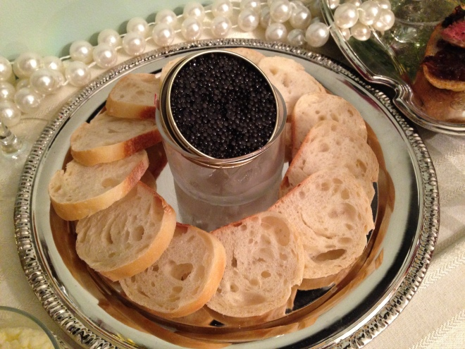 Caviar is best eaten on a soft or lightly toasted bread.