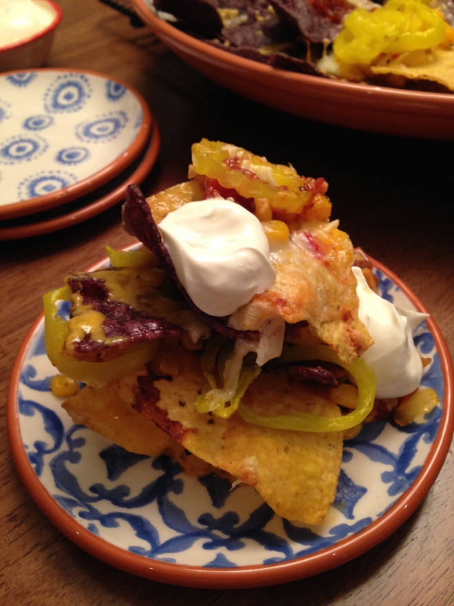 Serve with fresh guacamole and sour cream....your guests will love these Nachos!