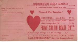 southdown meat market postcard