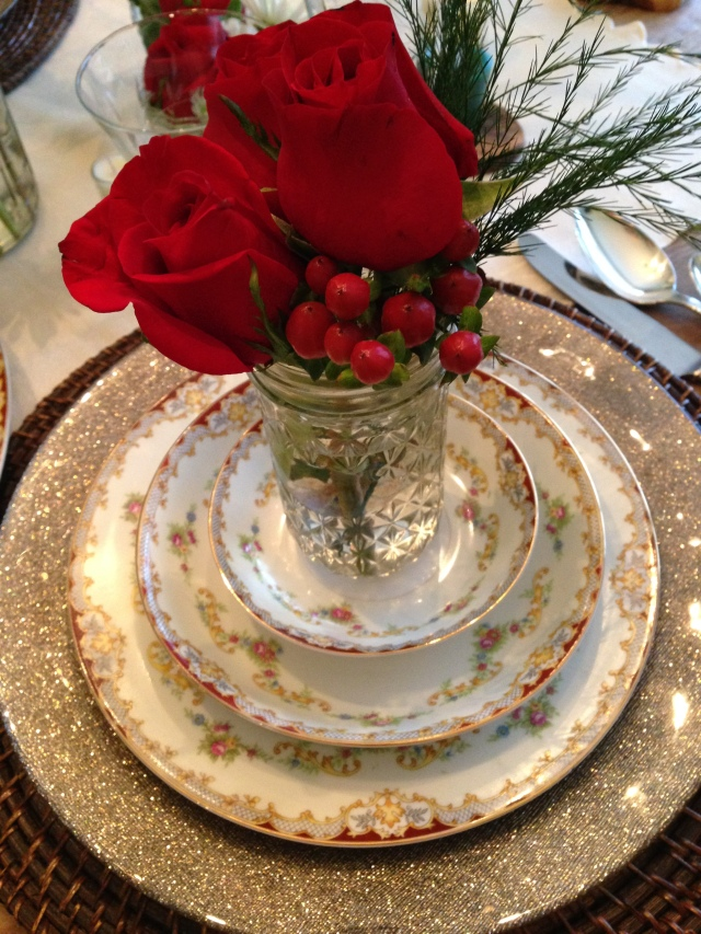 Use the good china for this dish! Festive!