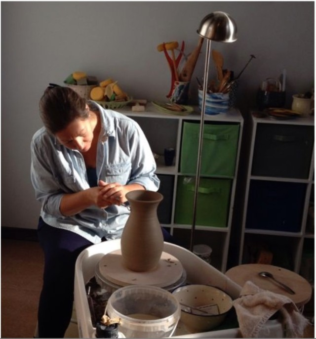 terrice with pottery wheel