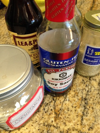 Whisk marinade ingredients and pour over meat.